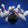 Bowling strike concept — Stock Photo