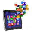 Tablet pc media concept — Stock Photo