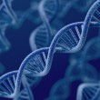 DNA on blue background — Stock Photo #27506475