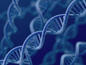 DNA on blue background — Stock Photo