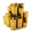 Stock Photo: Gold coin stack