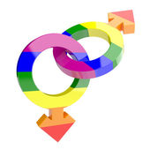 Gay symbols — Stock Photo