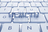 Health text on computed keyboard — Stock Photo