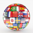 Flags collection sphere — Stock Photo #30032413