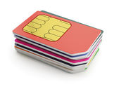 Sim cards stack — Stock Photo
