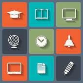 Education Flat icons — Stock Vector