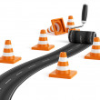 Foto Stock: Road construction concept