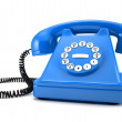 Blue old-fashioned phone — Stock Photo