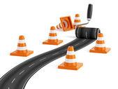 道路建设理念 — 图库照片