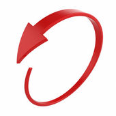 Red round arrow — Stockfoto