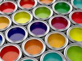 Latas de pintura colorida — Foto de Stock