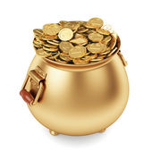 Pot of gold coins — Stock Photo