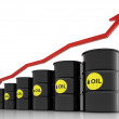 Oil price rise concept — Stock Photo