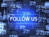 Följ oss begrepp — Stockfoto