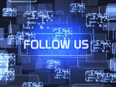 Volg ons concept — Stockfoto