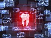 Tooth icon screen — Stockfoto