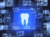 Tooth icon screen — Stock Photo