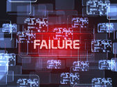 Failure screen concept — Stock Photo