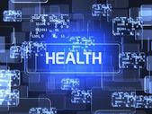 Concepto de salud pantalla — Foto de Stock