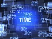 Time screen concept — Stock Photo