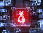 Money screen concept — Foto Stock