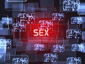 Sex screen concept — Stok fotoğraf