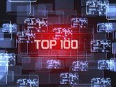 Top100 screen concept — Foto Stock