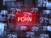 Porn screen concept  — Stock Photo