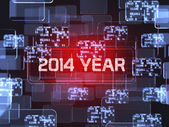 2014 year screen concept  — Stock Photo