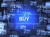 Buy screen concept  — Foto Stock