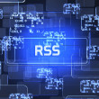 RSS screen concept — Stock Photo #46740213