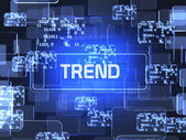 Trend screen concept  — Stock Photo
