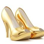 Golden high heels — Stock Photo #47819141