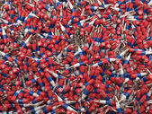 Russian flag bullets background — Stock Photo