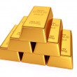 Golden bars isolated — Stock Photo #50225415
