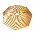 Golden maze isolated — Stock Photo