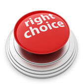 Right choice button isolated — Stock Photo