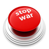 Red STOP WAR button — Stock Photo