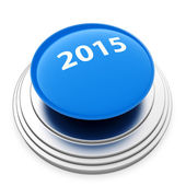 2015 New Year blue button — Stock Photo