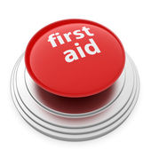 First aid button — Stock Photo