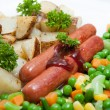 Potato and vegetables - Stock Photo