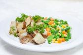 Potatis och grönsaker — Stockfoto