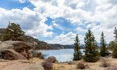 11 mile state park lake — Stock Photo