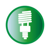 Eco energy bulb icon — Wektor stockowy