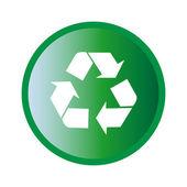 Green recycle symbol icon — Stock Vector