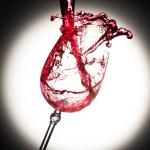 Wine glass splash — Stock Photo