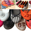 Stock Photo: Color shoes collection