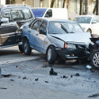 Auto accident involving two cars on a city street — Stock Photo #40248427