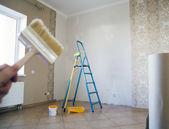 Painter hold tassel — Stock Photo