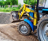 Grader tractor — Stock Photo